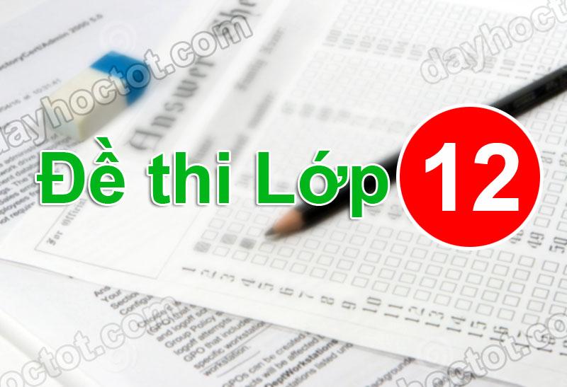 Môn Lý: Khảo sát chất lượng đầu năm lớp 12 trường THPT Thuận Thành 1