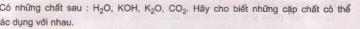 Bài 2 trang 6 sgk hóa học 9
