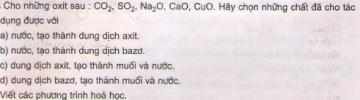 Bài 4 trang 6 sgk hóa học 9