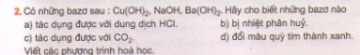Bài 2 trang 25 sgk hóa học 9