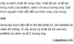 Câu 2 trang 246 SGK Hóa Học 11 Nâng cao