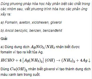 Câu 5 trang 246 SGK Hóa học 11 Nâng cao