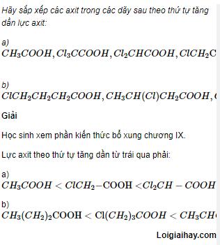 Câu 3 trang 256 SGK Hóa học 11 Nâng cao