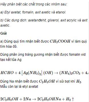 Câu 6 trang 260 SGK Hóa học 11 Nâng cao