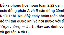 Bài 6 trang 8 sách Giáo khoa Hóa học 12 Nâng cao
