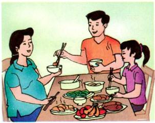 Mọi người trong gia đình cần làm gì để thể hiện sự quan tâm, chăm sóc đối với phụ nữ có thai ?