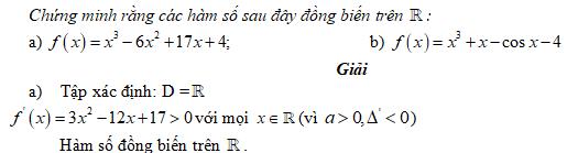 Bài 3 trang 8 SGK Đại số và Giải tích 12 Nâng cao