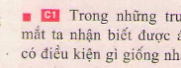 Bài C1 trang 4 sgk vật lí 7