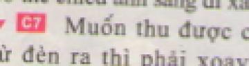 C7 trang 33 sgk Vật lí lớp 7