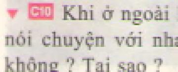 C10 trang 39 sgk Vật lí lớp 7