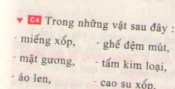 Bài C4 trang 41 sgk vật lí 7