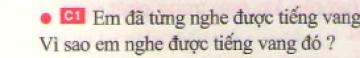 Bài C1 trang 40 sgk vật lí 7