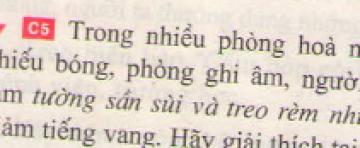 Bài C5 trang 41 sgk vật lí 7