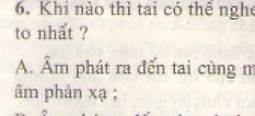 Bài 6 trang 46 sgk vật lý 7