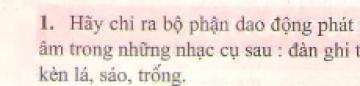 Bài 1 trang 46 sgk vật lý 7