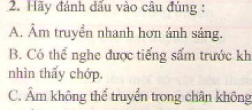 Bài 2 trang 46 sgk vật lý 7