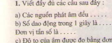 Bài 1 trang 45 sgk vật lý 7