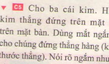 Bài C5 trang 8 sgk vật lí 7