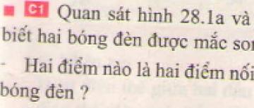 Bài C1 trang 80 sgk vật lí 7