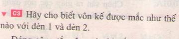 Bài C3 trang 81 sgk vật lí 7
