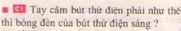 Bài C1 trang 82 sgk vật lí 7