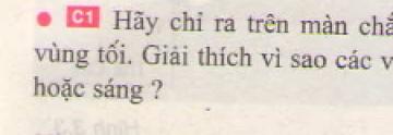 Bài C1 trang 9 sgk vật lí 7