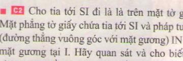 Bài C2 trang 13 sgk vật lí 7