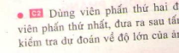 Bài C2 trang 16 sgk vật lí 7