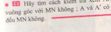 Bài C3 trang 16 sgk vật lí 7