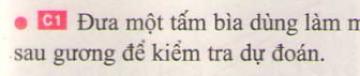 Bài C1 trang 15 sgk vật lí 7