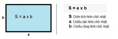 Công thức và cách tính diện tích hình chữ nhật như thế nào?