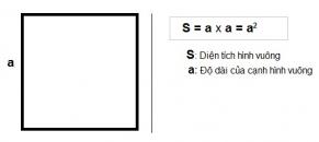 Công thức và cách tính diện tích hình vuông chuẩn toán học